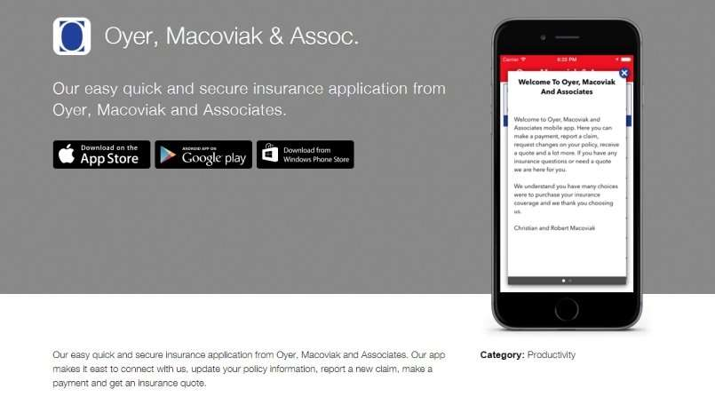 Oyer, Macoviak and Associates Mobile App